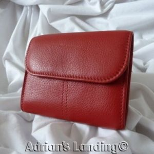 COACH Vintage Sonoma  Red Leather Wallet #4967